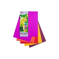 Quill Board 210gsm A4 Pack 50 - Bright Assorted