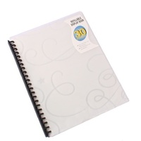 Bantex Display Book Refillable Jewel PP A4 30 Pockets - Clear