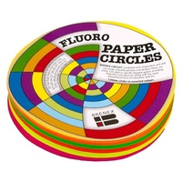 Brenex Fluoro Circles 120mm Diameter Single sided 120 Sheets Assorted Colours