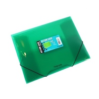 A4 Foldermate Document Wallet  PP Elastic Closure - Green