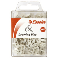 Drawing Pins Esselte White Pk100