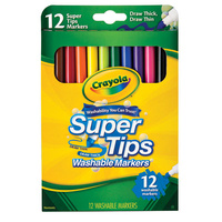 Crayola 12 SuperTips Markers Medium Tip (End Of Live)