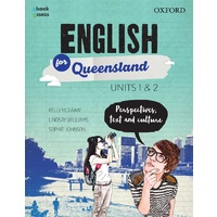 English for Queensland Units 1&2 Student book + obook assess