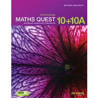 Jacaranda Maths Quest 10 for the AC 3E LearnON & Print
