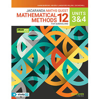 Jacaranda Maths Quest 12 Mathematical Methods QLD Unit 3&4 (includes free studyON)