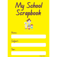 My School Scrapbook 24Mm Baselines Half Page Yellow