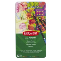 Derwent Academy Pencils Colour 12 Tin
