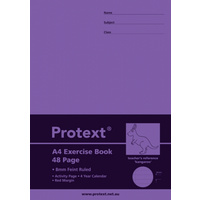 A4 Protext 48pg Exercise Book 8mm ruled + margin