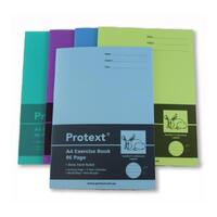 A4 Protext 96pg Exercise Book 8mm ruled + margin