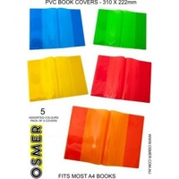 A4 Book Cover - 5 Colours - Pack Of 5