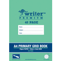 A4 Writer Premium 48pg Primary Grid Book