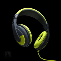 Soundstorm Headphones - Green With Mic  MCONNECTED