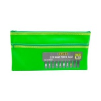 Pencil Case Pvc Cloth Backed With Alphabet Name Insert - 35 X 18Cm - 2 Zip