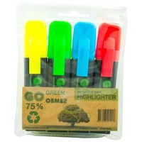 Osmer Highlighter 4 Colour Wallet - Literacy - Yellow, Green, Red, Blue