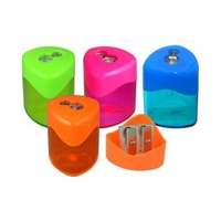2 Hole Metal Tinted Triangular Drum - 4 Assorted Colours