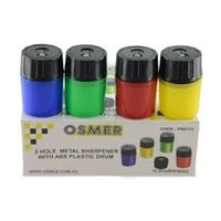 2 Hole Metal Pp Drum Sharpener -  4 Assorted Colours