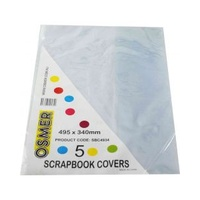 Scrapbook Cover - Clear - Pack Of 5